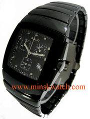 Часы RADO Sintra Хронограф черного цвета,  керамический браслет,  Минск