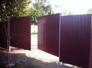 Ворота из металлопрофиля (распашные). Установка,  Изготовление,  Продажа