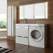 Умывальник  мебель LOTOS 120 комплект под стиральную машину с двумя вы